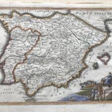 Arte: MAPA DE ESPAÑA Y PORTUGAL EN ÉPOCA ANTIGUA, 1740. CELLARIUS/RAMANZANI. Lote 205268620