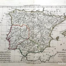 Arte: MAPPA HISPANAE ANTIQUAE - 1789 - POR BONA - MAPA ESPAÑA ANTIGUA - COLOREADO. Lote 189694530