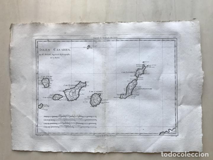 Arte: Mapa de las Islas Canarias (España), 1787. R. Bonne - Foto 2 - 189744861