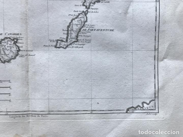 Arte: Mapa de las Islas Canarias (España), 1787. R. Bonne - Foto 5 - 189744861