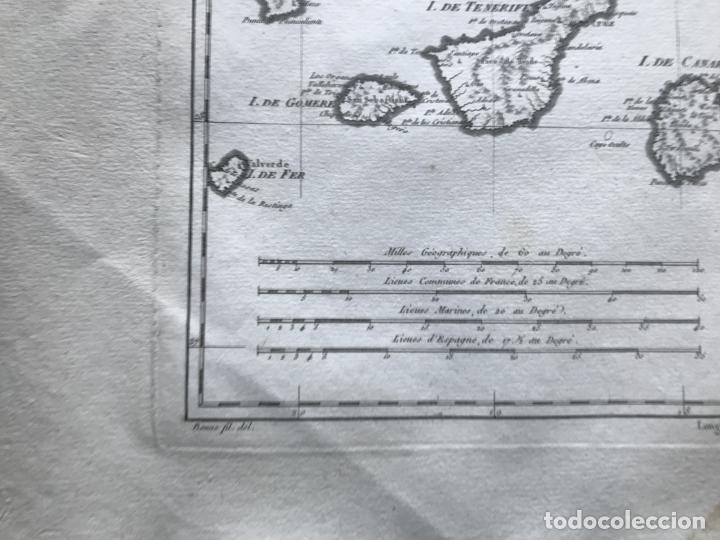 Arte: Mapa de las Islas Canarias (España), 1787. R. Bonne - Foto 9 - 189744861