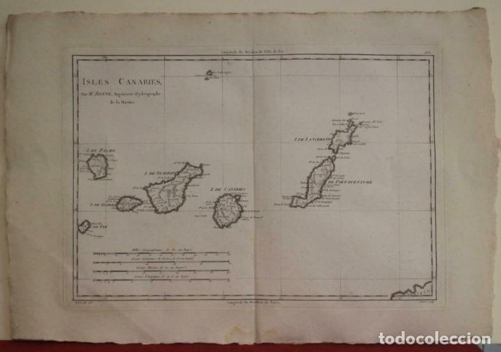 MAPA DE LAS ISLAS CANARIAS (ESPAÑA), 1787. R. BONNE (Arte - Cartografía Antigua (hasta S. XIX))