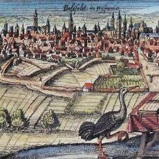 Arte: VALLADOLID, GRABADO POR D. MEISSNER, 1630, VALISOLET IN HISPANIA. Lote 189751535