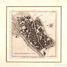 Arte: MAPA PLAN DE LA CIUDAD DE PALENCIA. SIGLO XVIII. Lote 189814050