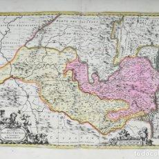 Arte: MAPA DE ARAGON HUESCA BENASQUE CANFRANC VALLE DE ARAN MONZON BARBASTRO- VALCK - AÑO 1702. Lote 189824041