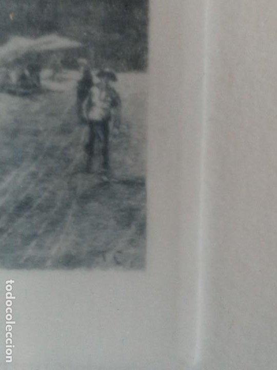 Arte: Tomas Campuzano y Aguirre( Santander 1857-Becerril de la Sierra 1934) Barcos grabado - Foto 2 - 186320225