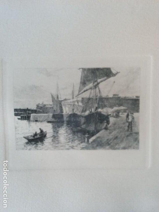 TOMAS CAMPUZANO Y AGUIRRE( SANTANDER 1857-BECERRIL DE LA SIERRA 1934) BARCOS GRABADO (Arte - Cartografía Antigua (hasta S. XIX))