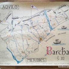 Arte: BARCELONA S. XI - LITOGRAFIA MINIADA - BARC[IN]A - 69,5X50CM - ANTONIO NOVELL BOFARULL. Lote 190014707