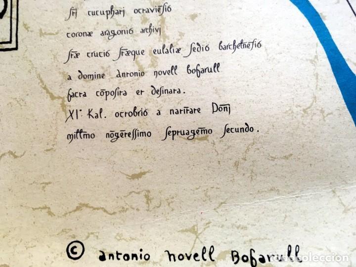 Arte: BARCELONA S. XI - LITOGRAFIA MINIADA - Barc[in]a - 69,5x50cm - Antonio Novell Bofarull - Foto 5 - 190014707