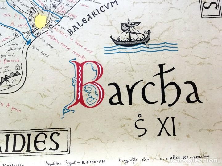 Arte: BARCELONA S. XI - LITOGRAFIA MINIADA - Barc[in]a - 69,5x50cm - Antonio Novell Bofarull - Foto 7 - 190014707