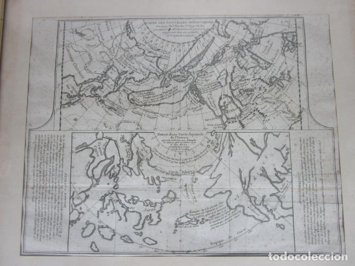 Arte: Mapa Cartográfico - Combinación de Dos mapas en la misma Plancha - Phillipe Buache - Año 1772 - Foto 2 - 190116373