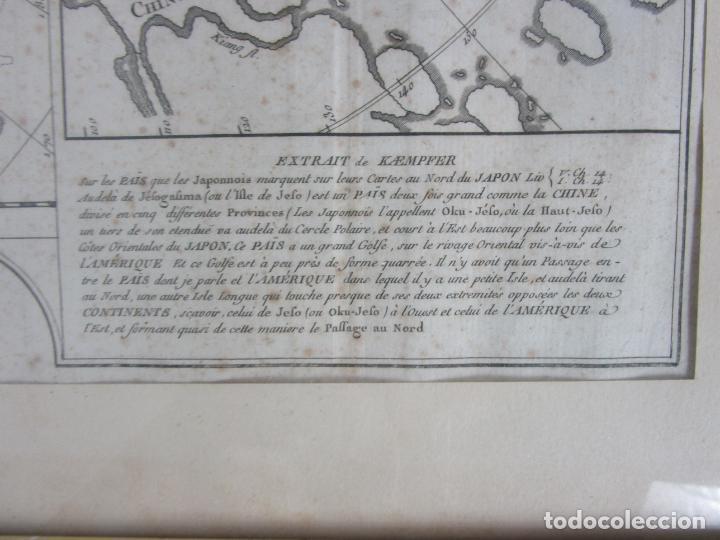 Arte: Mapa Cartográfico - Combinación de Dos mapas en la misma Plancha - Phillipe Buache - Año 1772 - Foto 3 - 190116373