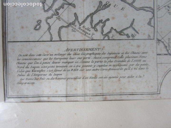 Arte: Mapa Cartográfico - Combinación de Dos mapas en la misma Plancha - Phillipe Buache - Año 1772 - Foto 4 - 190116373