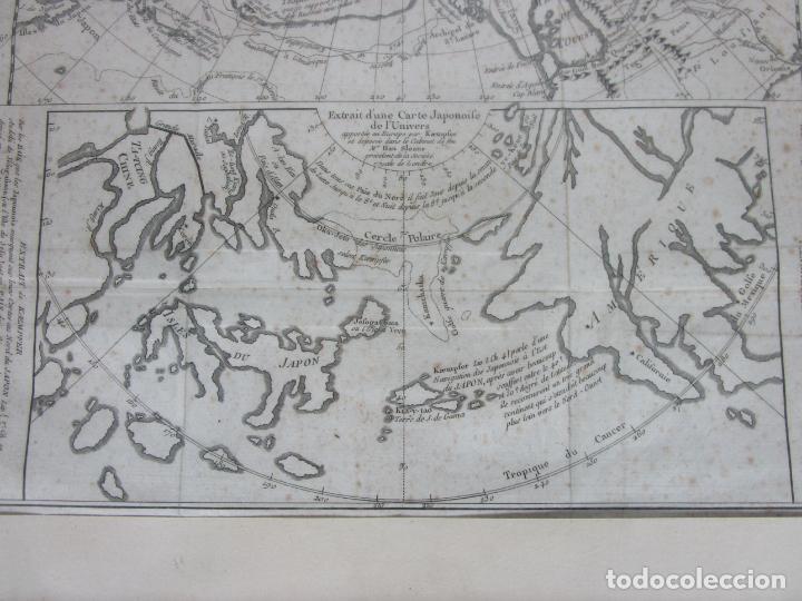 Arte: Mapa Cartográfico - Combinación de Dos mapas en la misma Plancha - Phillipe Buache - Año 1772 - Foto 5 - 190116373