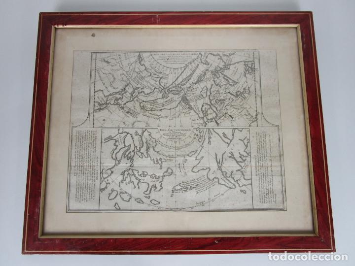 Arte: Mapa Cartográfico - Combinación de Dos mapas en la misma Plancha - Phillipe Buache - Año 1772 - Foto 12 - 190116373