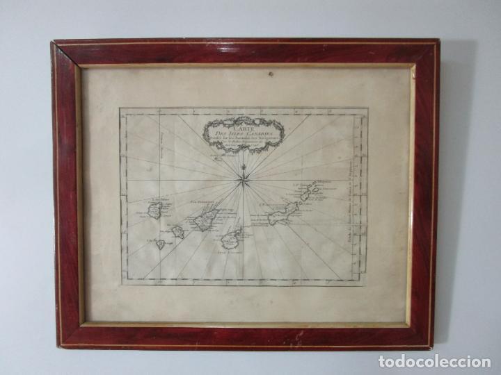 Arte: Mapa Cartográfico - Carte des Isles Canarias - Jacques Nicolas Bellín (1703-1772) - Año 1746 - Foto 2 - 190119853
