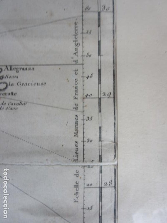 Arte: Mapa Cartográfico - Carte des Isles Canarias - Jacques Nicolas Bellín (1703-1772) - Año 1746 - Foto 6 - 190119853