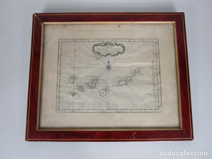 Arte: Mapa Cartográfico - Carte des Isles Canarias - Jacques Nicolas Bellín (1703-1772) - Año 1746 - Foto 10 - 190119853
