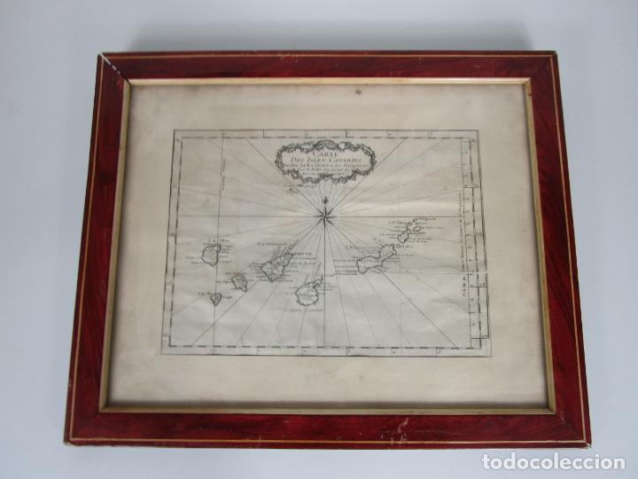MAPA CARTOGRÁFICO - CARTE DES ISLES CANARIAS - JACQUES NICOLAS BELLÍN (1703-1772) - AÑO 1746 (Arte - Cartografía Antigua (hasta S. XIX))