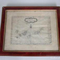 Arte: MAPA CARTOGRÁFICO - CARTE DES ISLES CANARIAS - JACQUES NICOLAS BELLÍN (1703-1772) - AÑO 1746. Lote 190119853