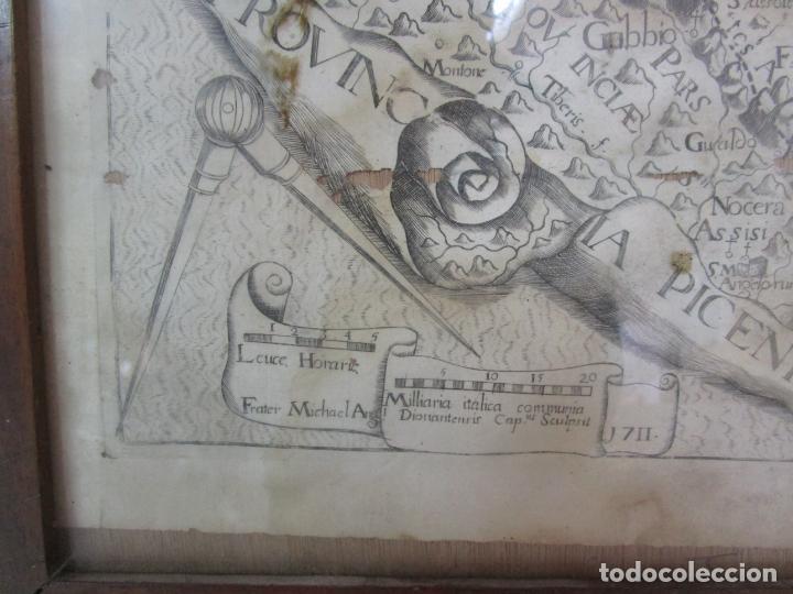 Arte: Mapa Cartográfico - Provincia Piceni (Pisa) - Plancha Atlas Temático Frailes Capuchinos - Año 1711 - Foto 3 - 190213395