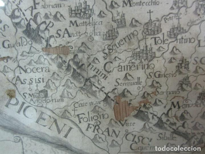 Arte: Mapa Cartográfico - Provincia Piceni (Pisa) - Plancha Atlas Temático Frailes Capuchinos - Año 1711 - Foto 6 - 190213395