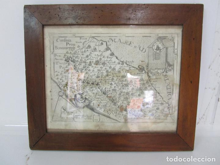 MAPA CARTOGRÁFICO - PROVINCIA PICENI (PISA) - PLANCHA ATLAS TEMÁTICO FRAILES CAPUCHINOS - AÑO 1711 (Arte - Cartografía Antigua (hasta S. XIX))