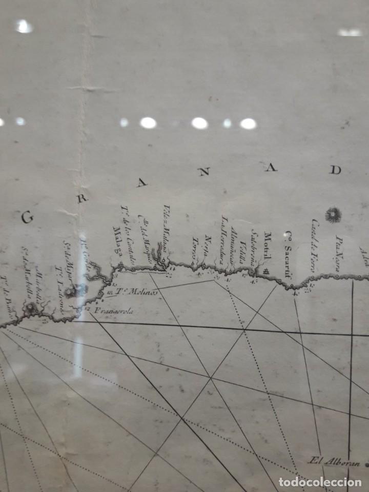Arte: Carta Esferica de las Costas de la Peninsula de España las de Francia e Italia hasta el Cabo Venere, - Foto 2 - 152421842