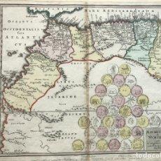 Arte: MAPA DEL NORTE DEL ÁFRICA ROMANA E ISLAS CANARIAS (ESPAÑA), HACIA 1740. WEIGEL. Lote 190284502