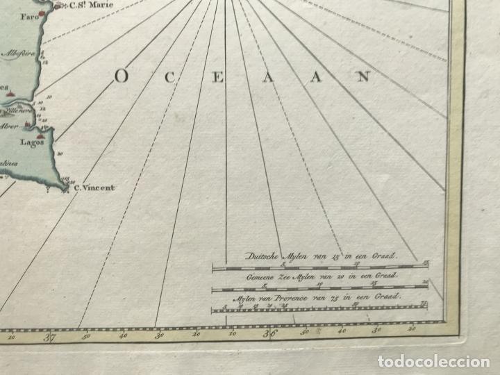 Arte: Gran carta náutica del sur de España y sur y centro de Portugal, 1759. Isaac Tirion - Foto 9 - 190289175