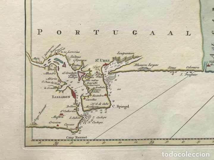 Arte: Gran carta náutica del sur de España y sur y centro de Portugal, 1759. Isaac Tirion - Foto 10 - 190289175