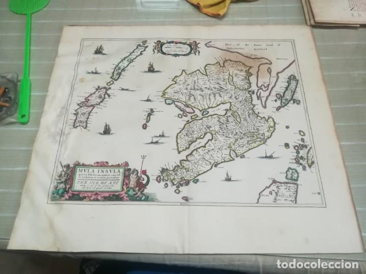 MUY RARO MAPA DE ESCOCIA LITOGRAFIA DE TIMOTHY PONT COLOREADA SIGLO XVII? MIREN FOTOS (Arte - Cartografía Antigua (hasta S. XIX))