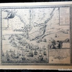 Art: MAPA SITIO DE TARRAGONA - 22 OCTUBRE 1644 - SETGE DE TARRAGONA -. Lote 190343561