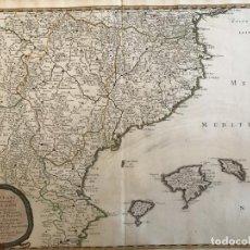 Art: GRAN MAPA DE ARAGÓN , CATALUÑA, VALENCIA E ISLAS BALEARES (ESPAÑA), 1653. SANSON/MARIETTE. Lote 190413830