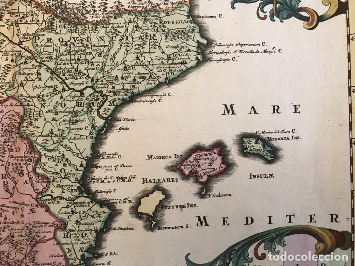 Arte: Gran mapa de la orden de los Agustinos en España y Portugal, 1730. M. Seutter - Foto 6 - 190426320