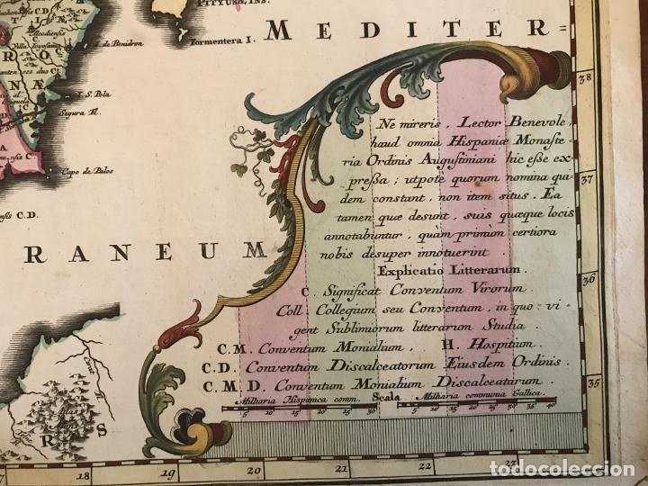 Arte: Gran mapa de la orden de los Agustinos en España y Portugal, 1730. M. Seutter - Foto 7 - 190426320