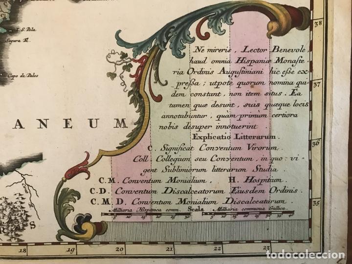 Arte: Gran mapa de la orden de los Agustinos en España y Portugal, 1730. M. Seutter - Foto 14 - 190426320