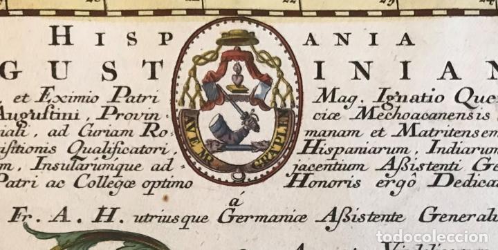 Arte: Gran mapa de la orden de los Agustinos en España y Portugal, 1730. M. Seutter - Foto 18 - 190426320