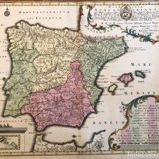 Arte: GRAN MAPA DE LA ORDEN DE LOS AGUSTINOS EN ESPAÑA Y PORTUGAL, 1730. M. SEUTTER. Lote 190426320