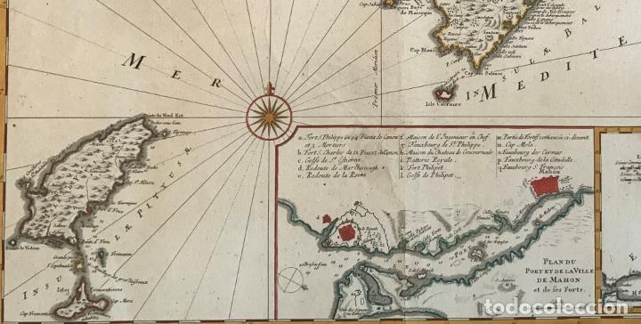 Arte: Gran mapa de las islas Baleares (España), 1756. Bellin/Homann - Foto 3 - 190700841