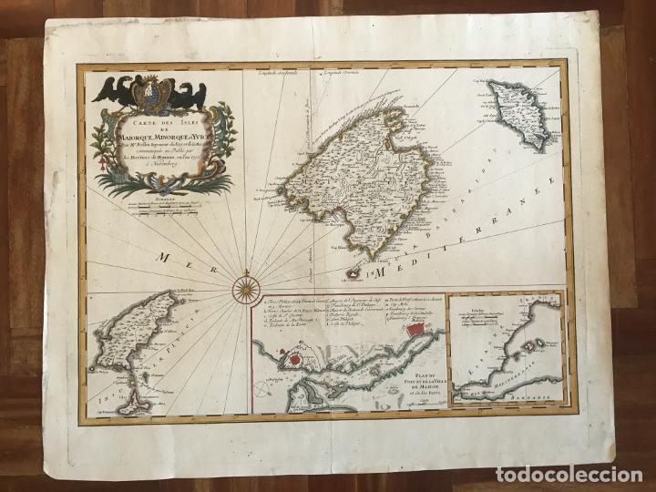 Arte: Gran mapa de las islas Baleares (España), 1756. Bellin/Homann - Foto 6 - 190700841