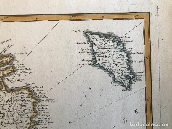 Arte: Gran mapa de las islas Baleares (España), 1756. Bellin/Homann - Foto 9 - 190700841