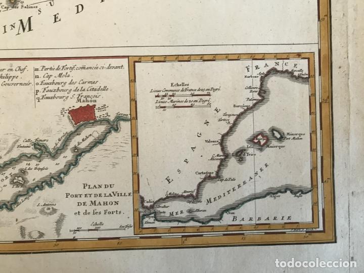 Arte: Gran mapa de las islas Baleares (España), 1756. Bellin/Homann - Foto 10 - 190700841
