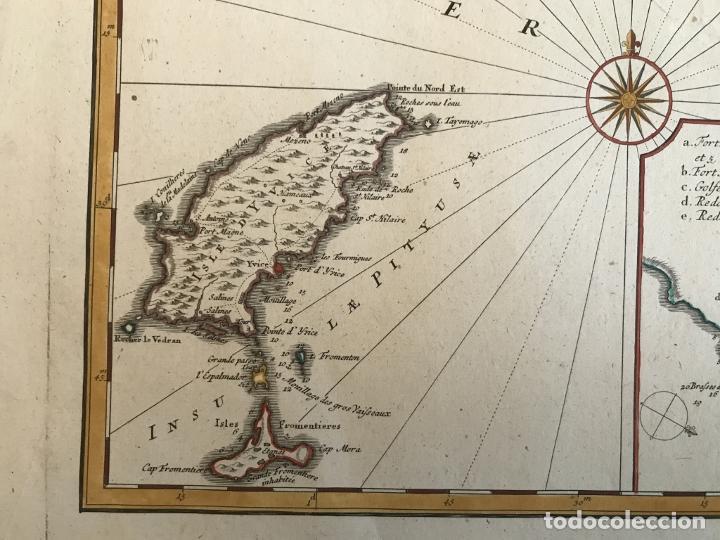 Arte: Gran mapa de las islas Baleares (España), 1756. Bellin/Homann - Foto 12 - 190700841