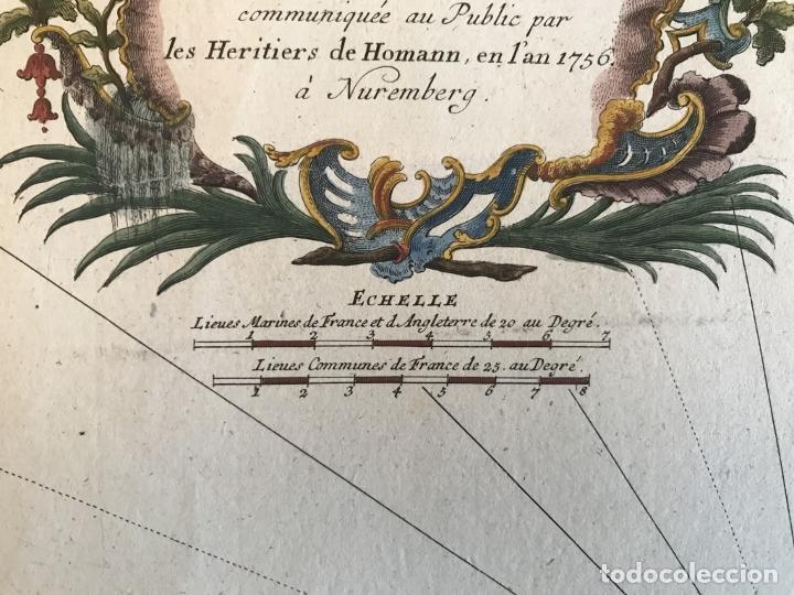 Arte: Gran mapa de las islas Baleares (España), 1756. Bellin/Homann - Foto 14 - 190700841