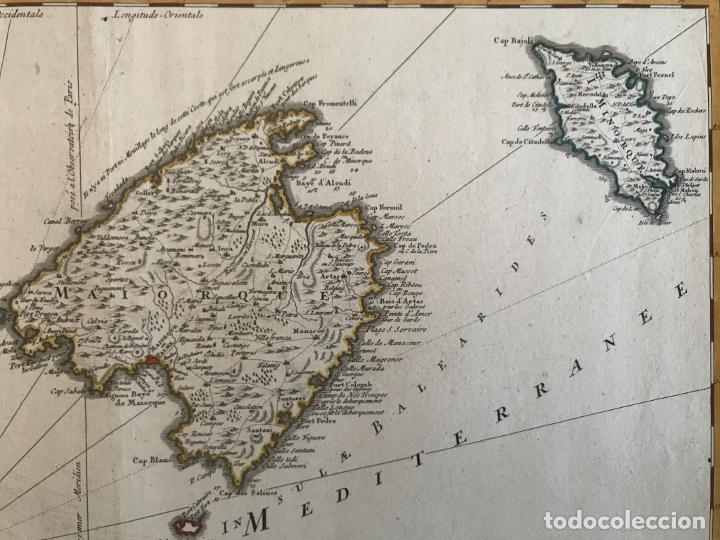 Arte: Gran mapa de las islas Baleares (España), 1756. Bellin/Homann - Foto 15 - 190700841