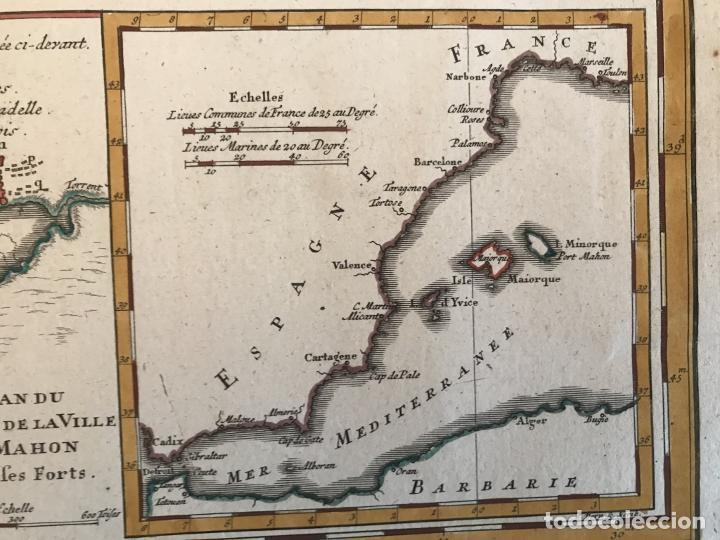 Arte: Gran mapa de las islas Baleares (España), 1756. Bellin/Homann - Foto 18 - 190700841