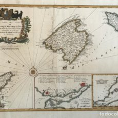 Arte: GRAN MAPA DE LAS ISLAS BALEARES (ESPAÑA), 1756. BELLIN/HOMANN. Lote 190700841