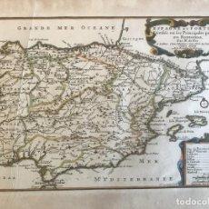 Arte: MAPA DE ESPAÑA Y PORTUGAL, 1701. NICOLAS DE FER/VAN LOON. Lote 190739606