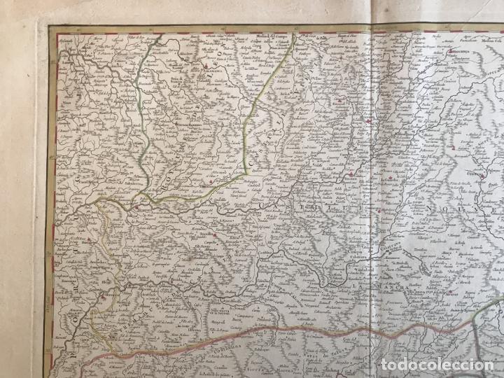Arte: Gran mapa de Castilla, Extremadura, Andalucia, Murcia y Valencia (España), 1752. Vaugondy - Foto 3 - 190769193